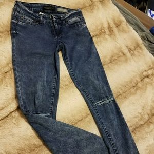 aero distressed jeggins